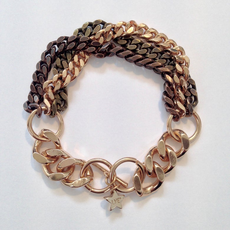 Image of Gourmette dégradé 3 couleurs Sweet Chain / Gradient Bracelet 3 colors Sweet Chain