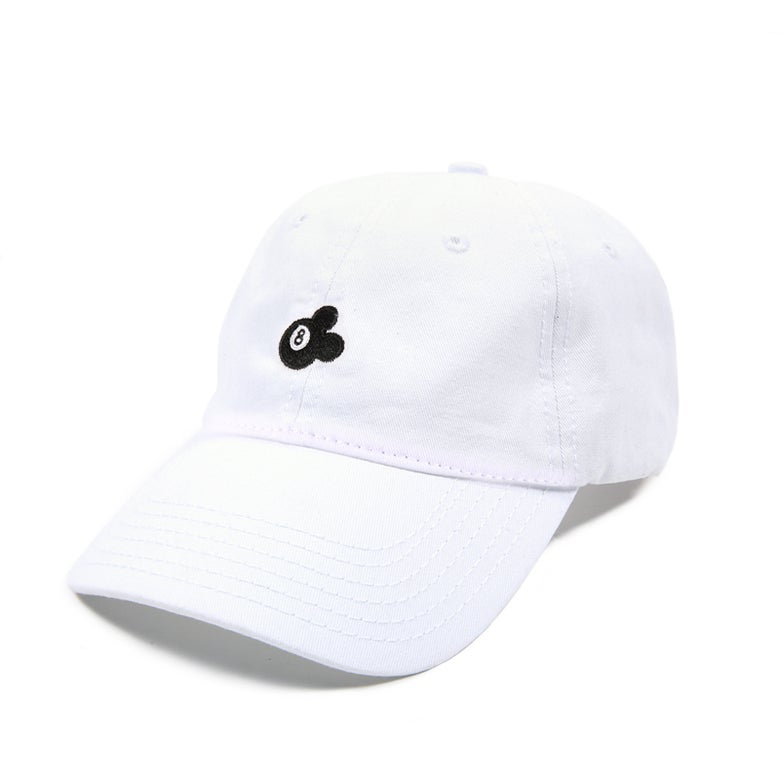 Image of  8 Ball Low Profile Sports Cap - White
