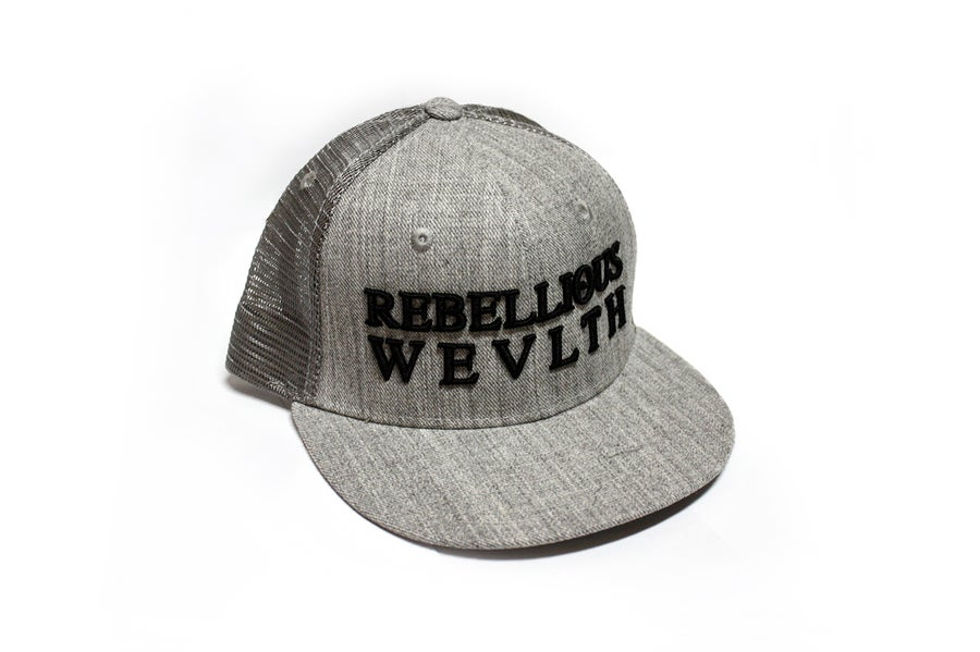 Image of RWLS Trucker Snapback Grey/Black