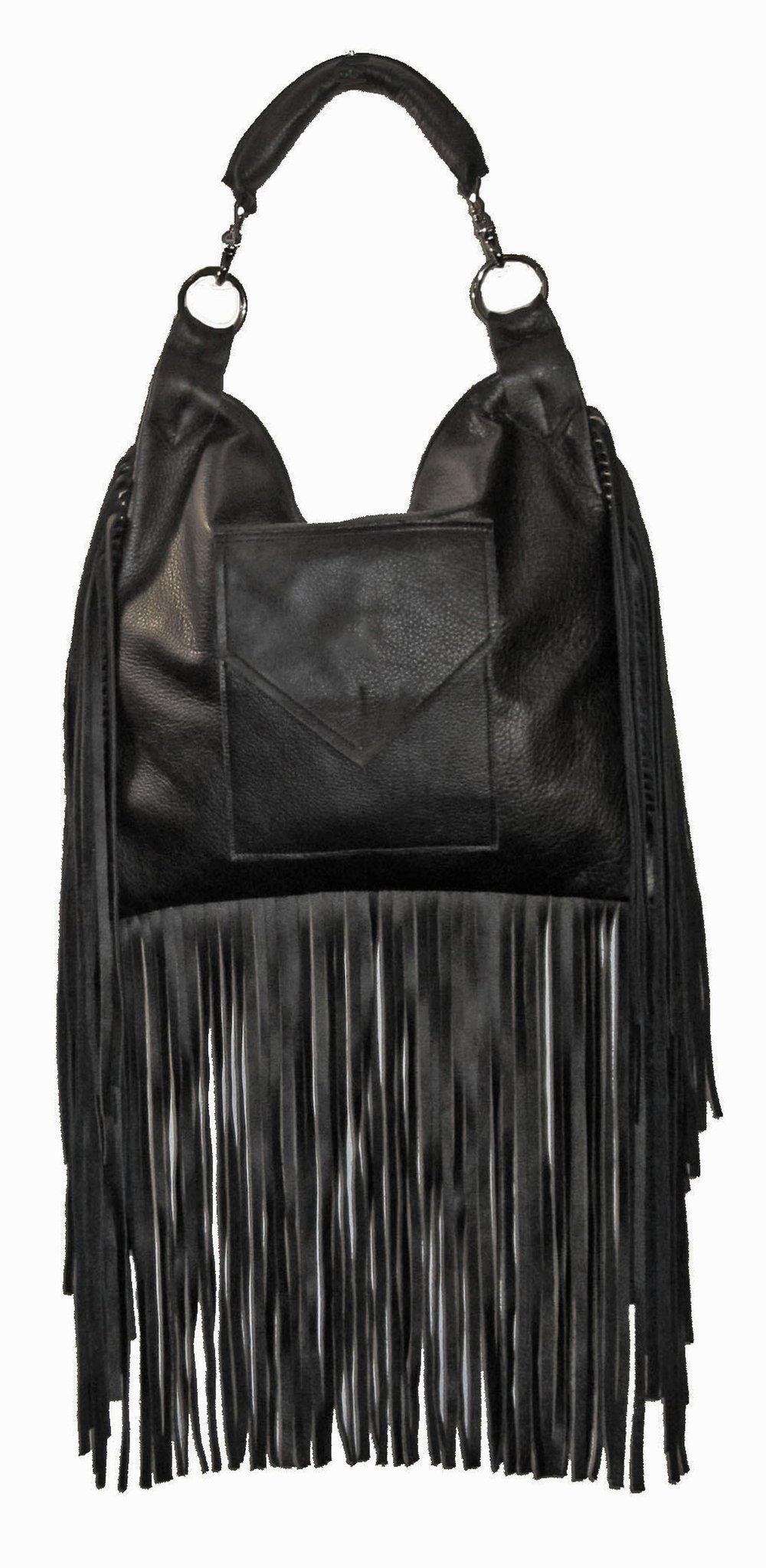 Image of Freebird Fringed Bag- Recycled Leather or Vegan
