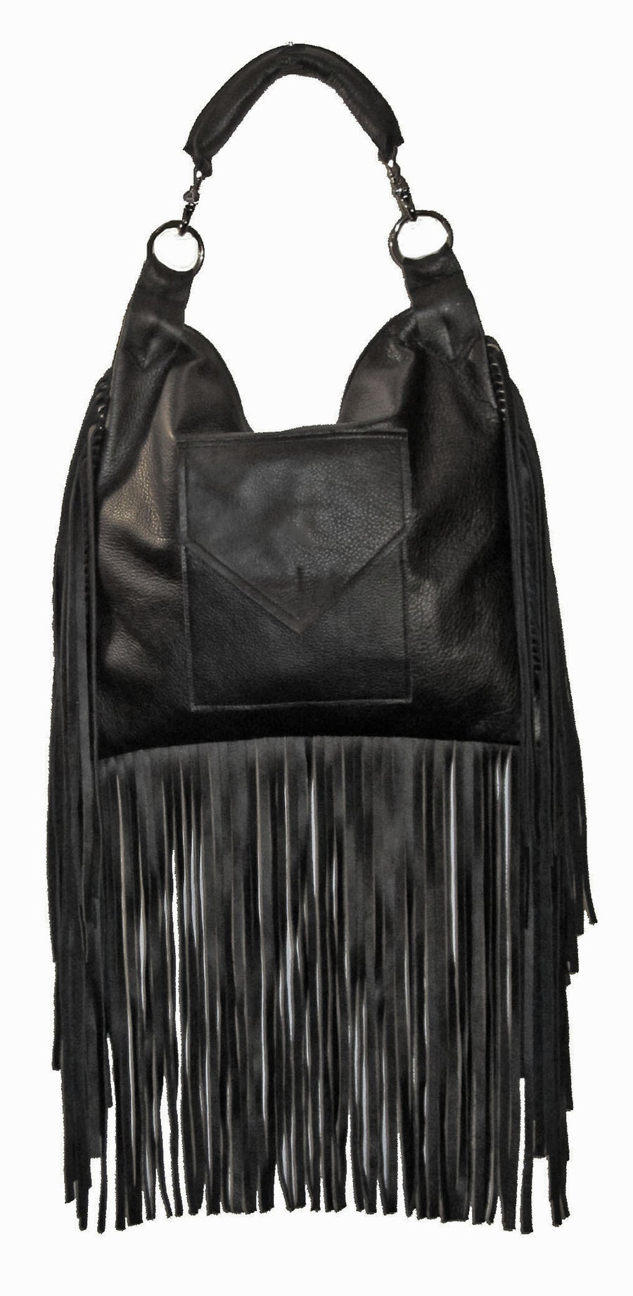 Image of Freebird Fringed Bag- Recycled Leather or Vegan