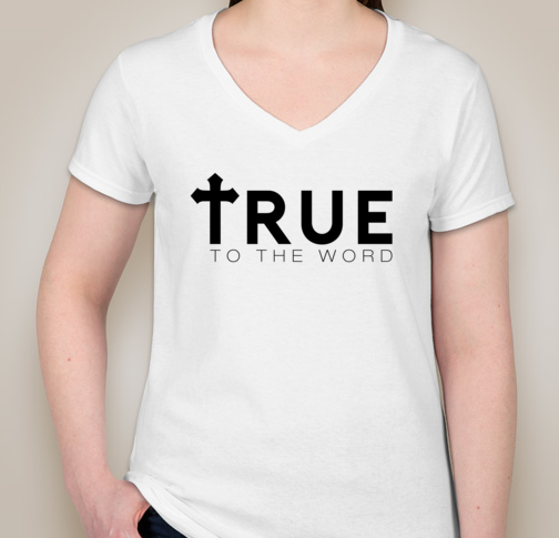 Image of True To The Word Logo Woman's V-Neck