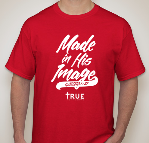 Image of Made in HIS Image || Red Crew Neck