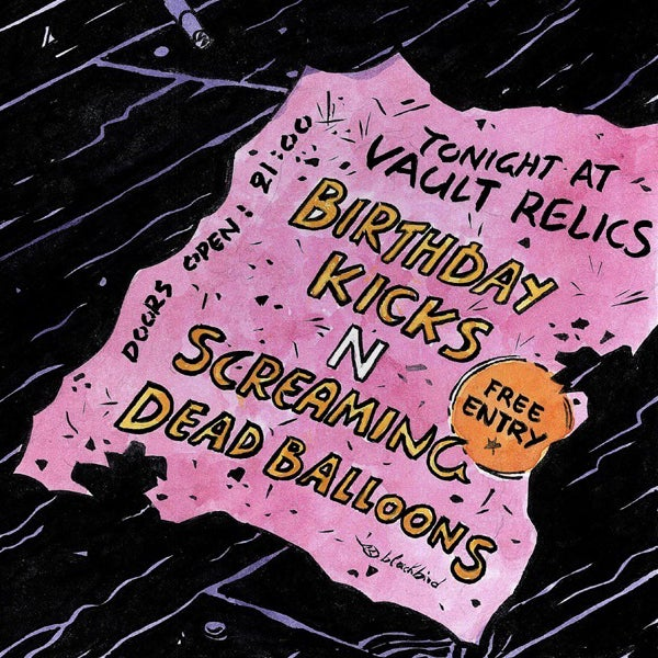 Image of Birthday Kicks/Screaming Dead Balloons - Tonight at Vault Relics split 7""