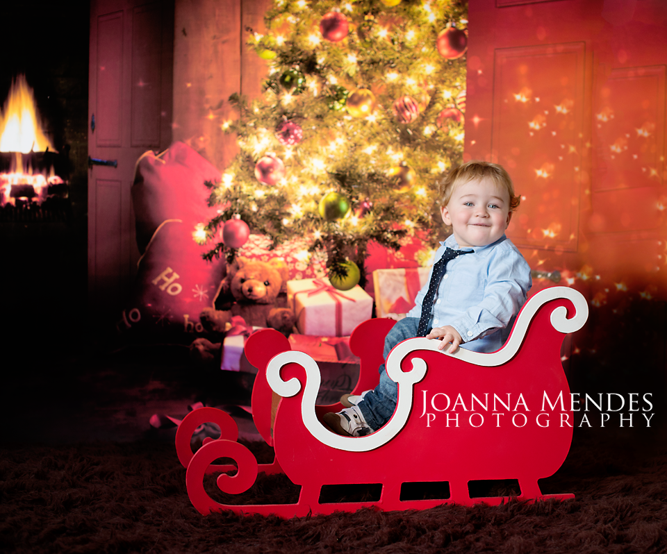 image of christmas sleigh red single or double baby photography prop