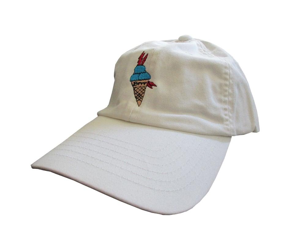 e1dd7492dc7 Image of Custom Gucci Mane Ice Cream Cone Meme White Twill Dad HatCotton Dad  Hat