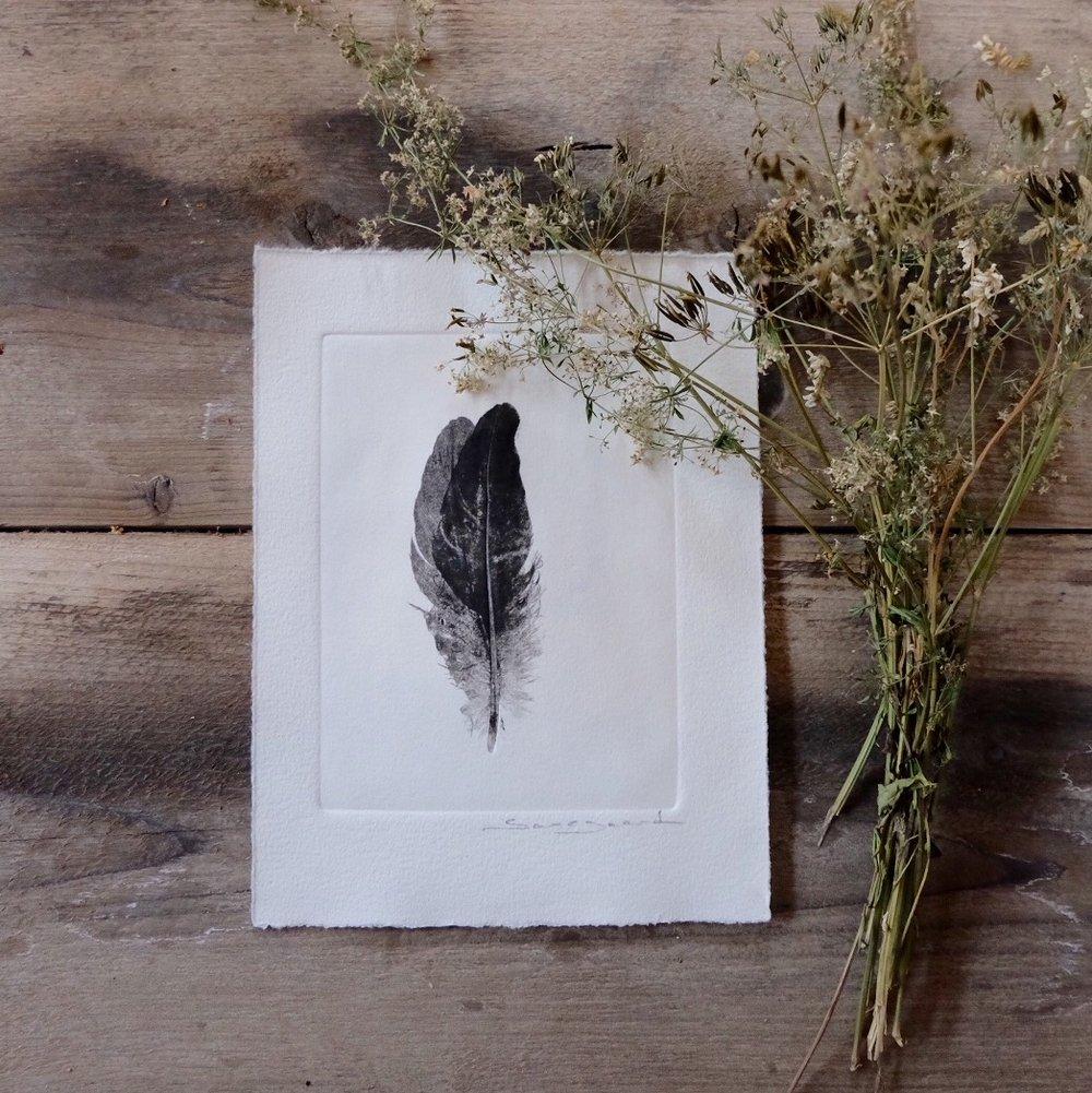 Image of Botanical print, Double feather