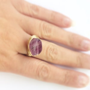 Image of Lake Ring - polished Fluorite for Power SOLD OUT