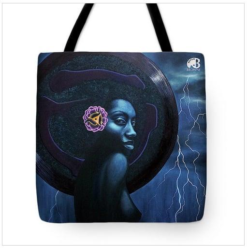 Image of Q Funk 45 tote bag