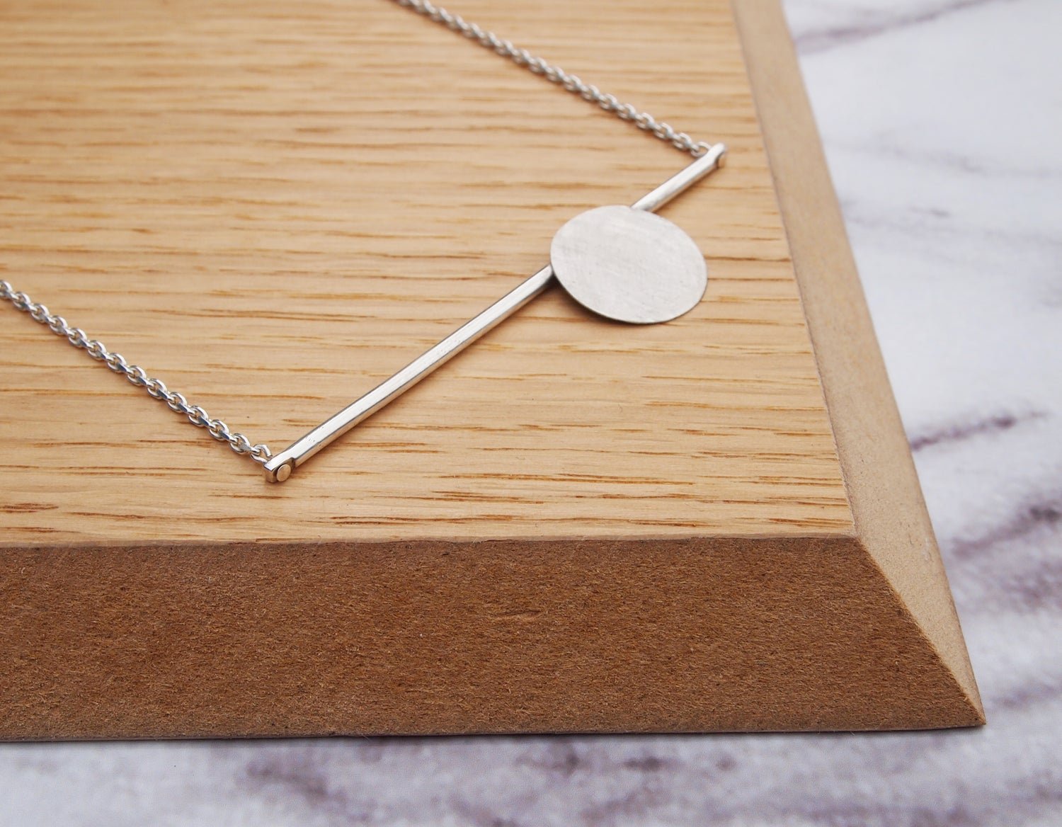 Image of Circle and Bar Necklace