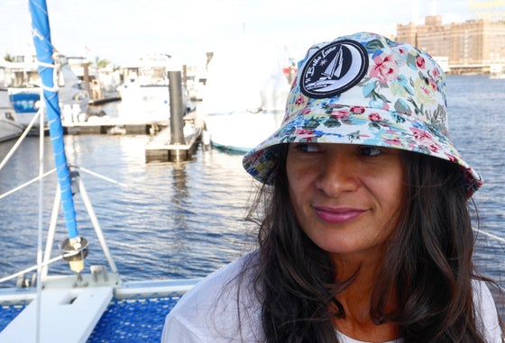Image of SVBL - Floral Bucket Hat - WHITE