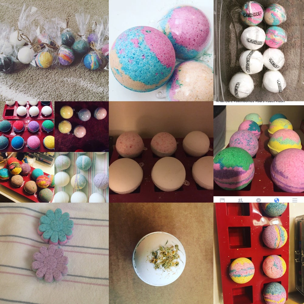Image of Organic Bath Bombs (Handmade item, Made to order)