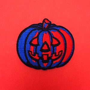 Image of Ghoulish Gourd Embroidered Iron-On Patch