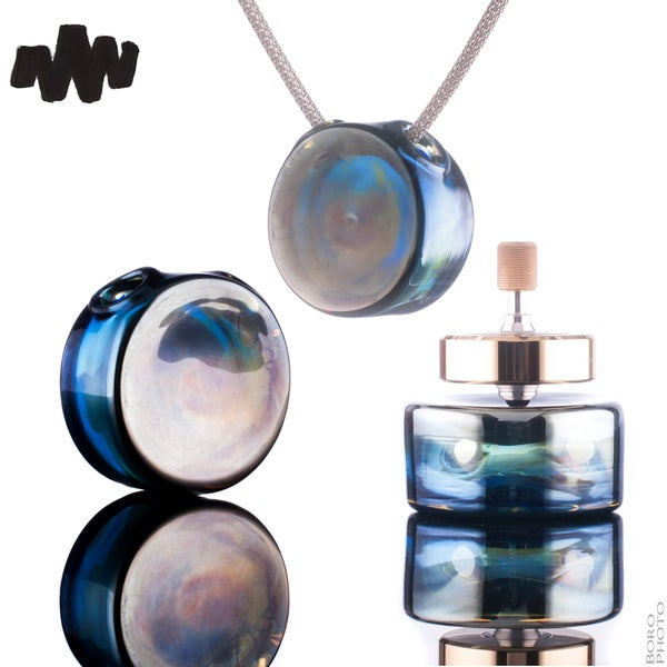 Image of MW Silver fume Pendant Spin Station 40mm