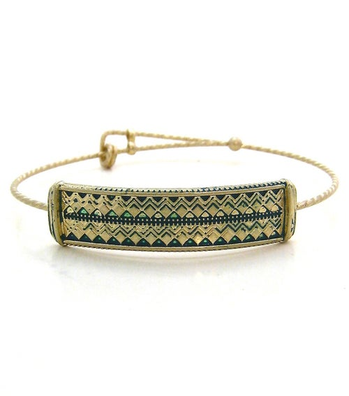 Image of Aztec Plate Expandable Bangle (More Colors)