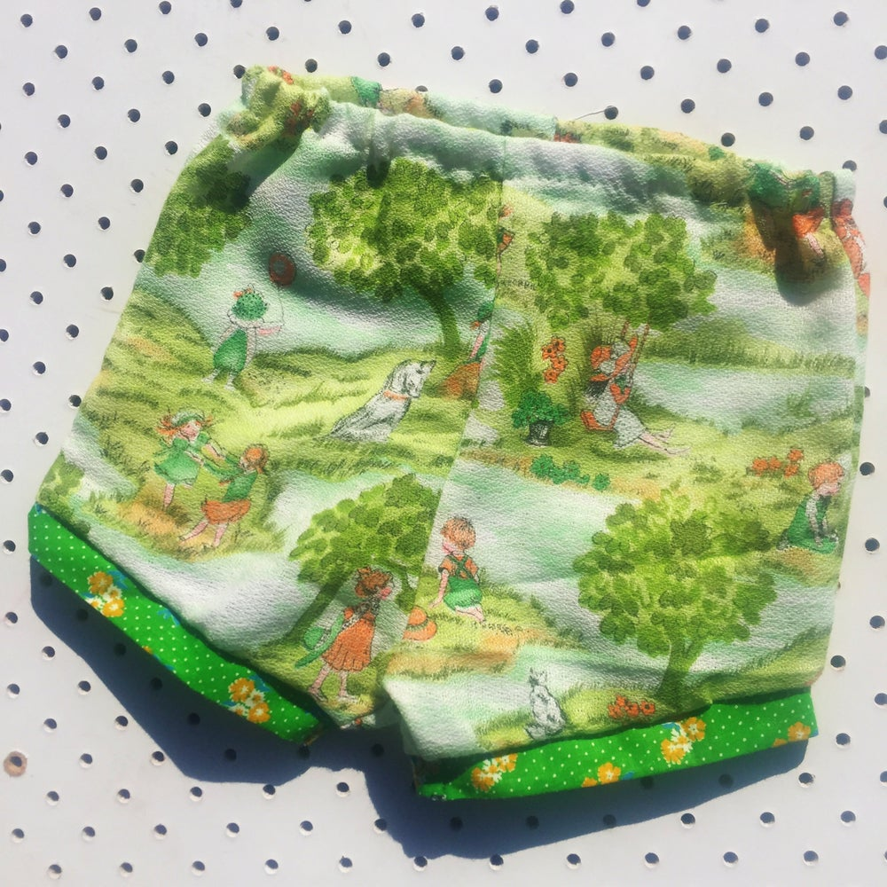 Image of Baggy bloomers - size 6-12mths - green fields