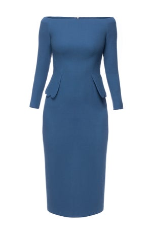Bell Heather Dress (Blue) $885.00 - Melissa Bui