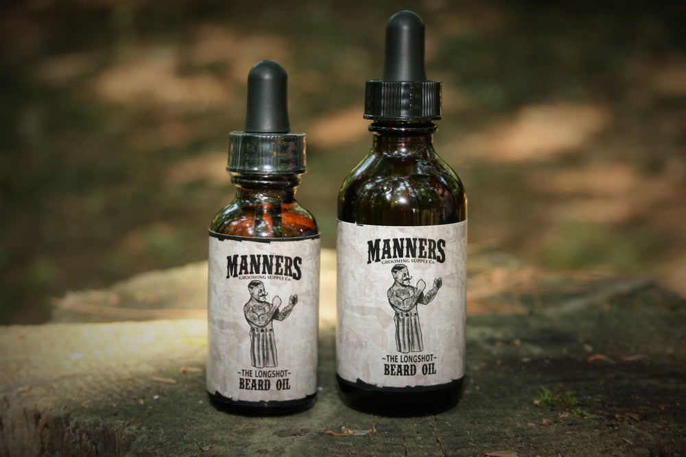 "Image of ""THE LONGSHOT"" Premium Beard Oil - Amber Dropper Bottle"