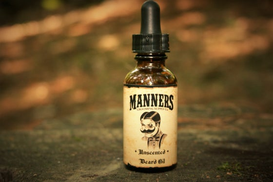 "Image of ""UNSCENTED"" BEARD OIL - Amber Dropper Bottle"