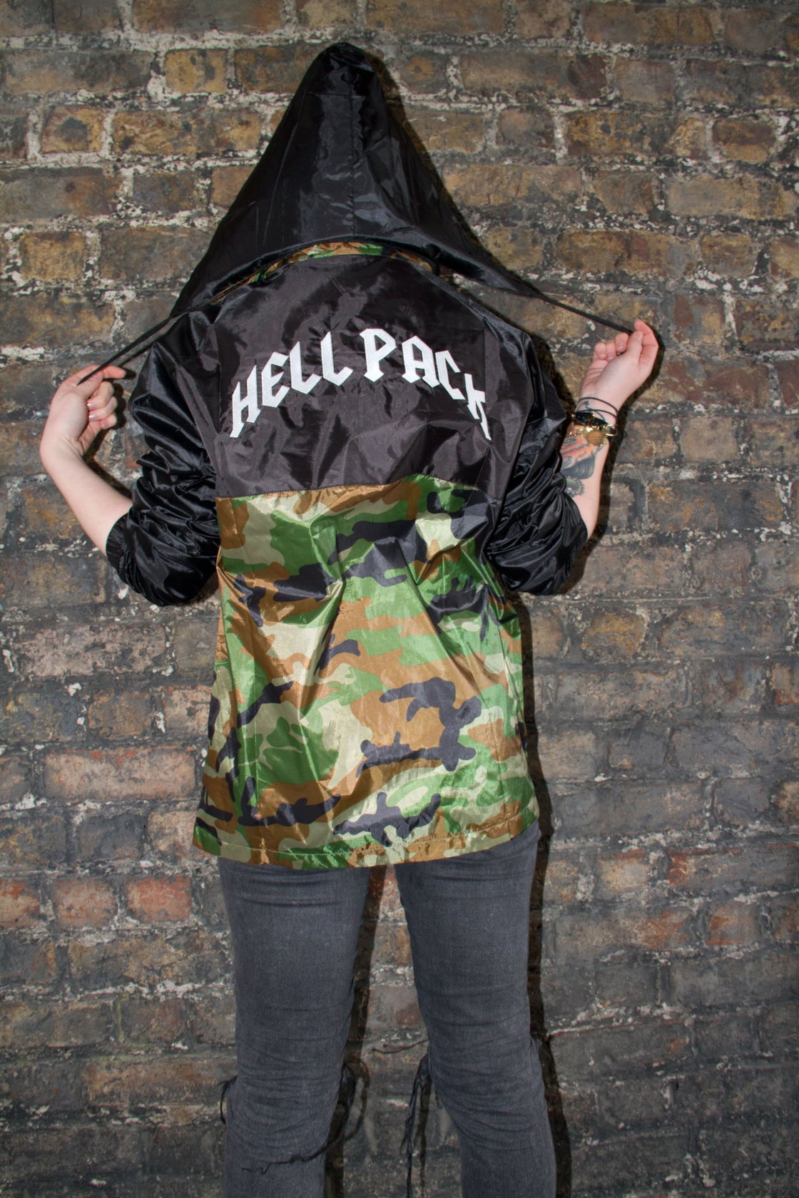 Image of HELLPACK Camo Windbreaker