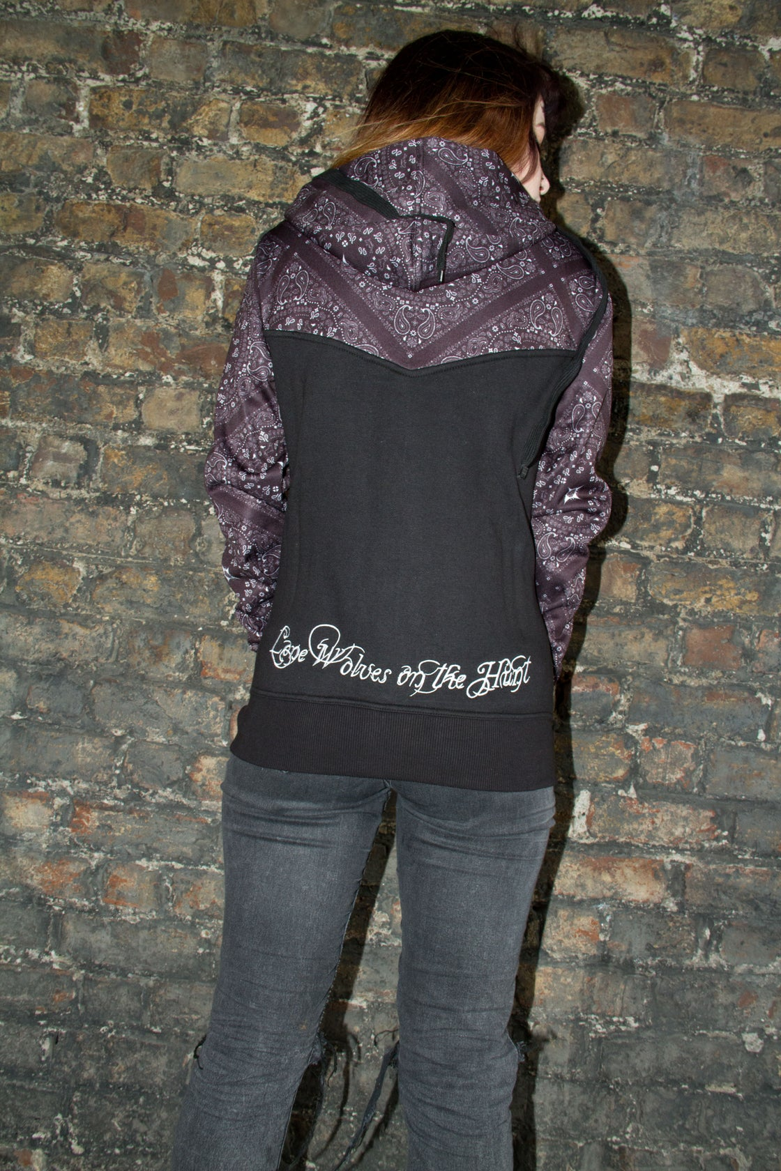 Image of Hell or Win Paisley Ladies Hood
