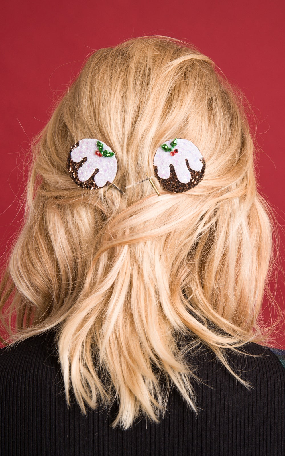 Image of Diamante Christmas Pudding Bobby Pins