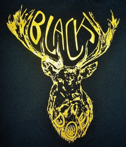 Image of Black Doe T-SHIRT, black & gold