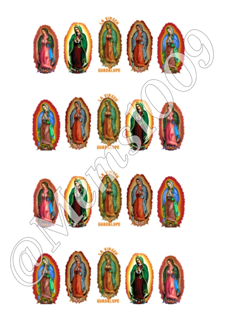 Decals On — Guadalupe Nail Decals (water decals) Virgin Mary Nail Decals