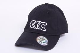 Image of Black Distressed Dad Hat