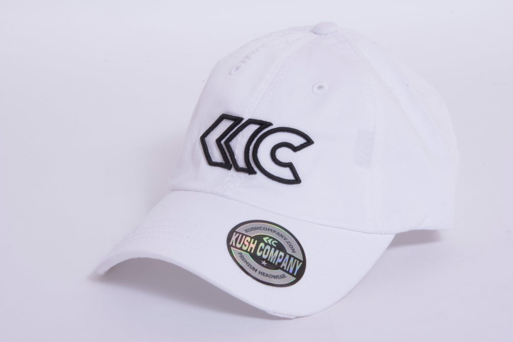 Image of White Distressed Dad Hat