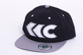 Image of Black/Gray Applique Snap Back 1