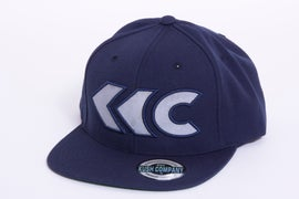 Image of Navy Blue Applique Snap Back 1