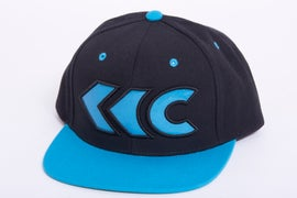 Image of Black/Teal Applique Snap Back 1