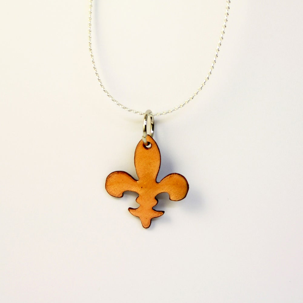 Image of Kentucky State Collection: Fleur de Lis Copper Enameled Necklace