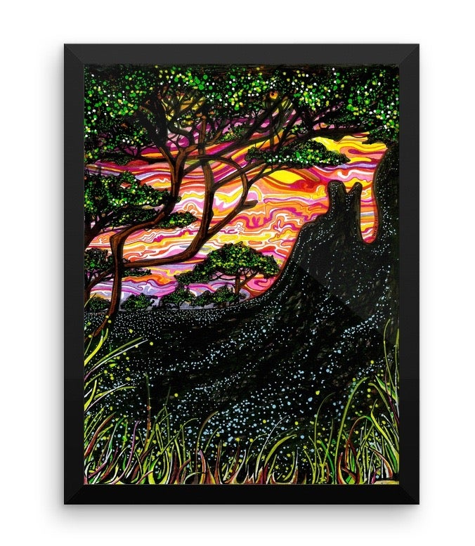 Image of Framed African Sunset Print