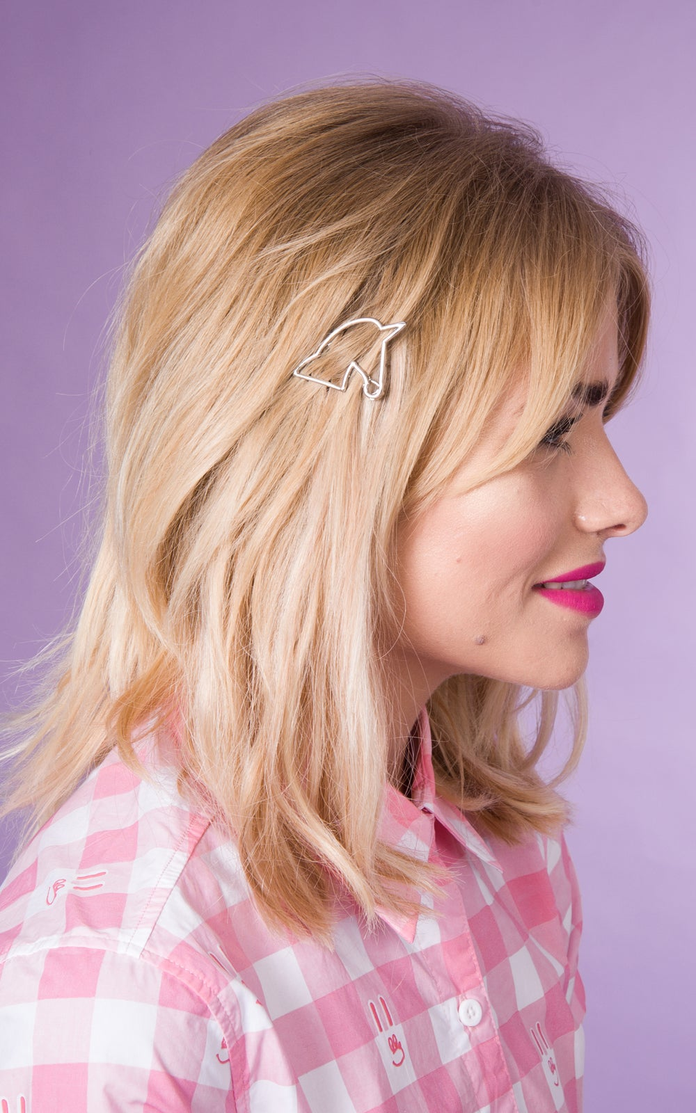 Image of Unicorn Hair Clip Available in Gold or Silver