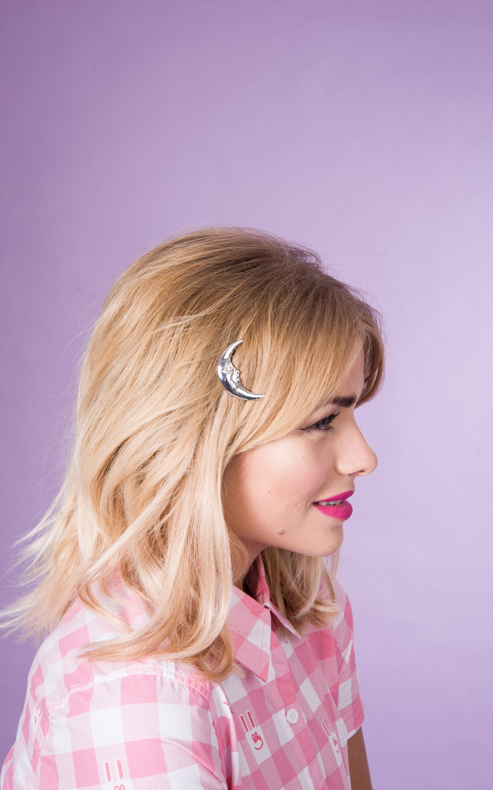Image of La Luna hair Clip Available in Gold and Silver