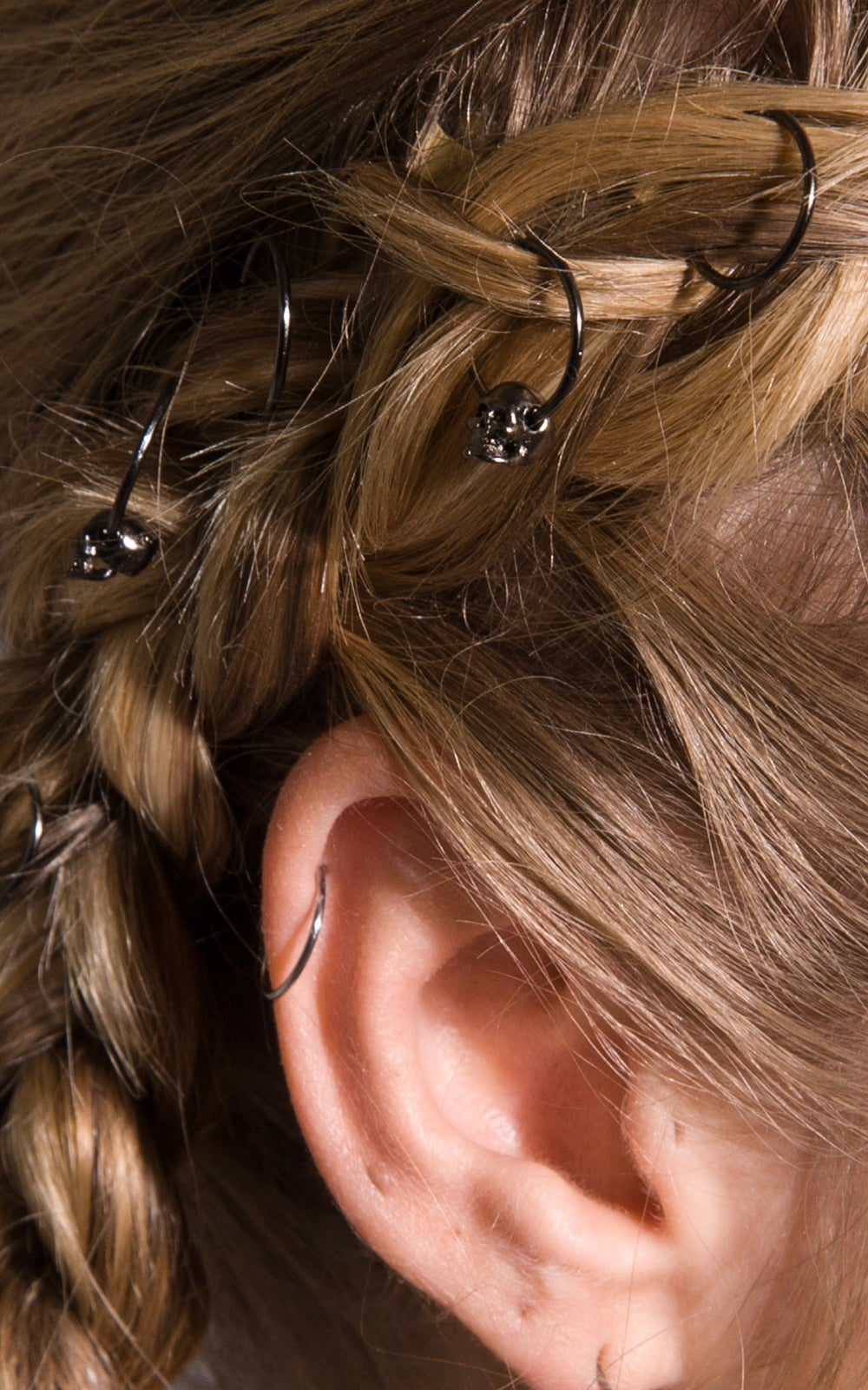 Image of Desdemona Hair Rings Gunmetal