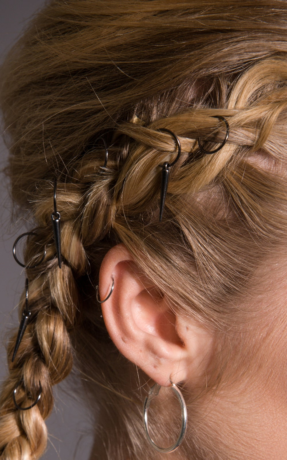 Image of Ramona Hair Rings Gunmetal