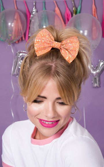 Image of Betty Glitter Hair Bows available in 30 Colours