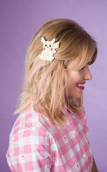 Image of Pikachu Glitter Hair Clip Available in 30 Colours