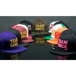 Image of Team Soca Version 1 Snap Back Hat (Gold Edition)