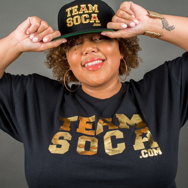 Image of Men & Women Team Soca T-Shirts Gold Foil Edition