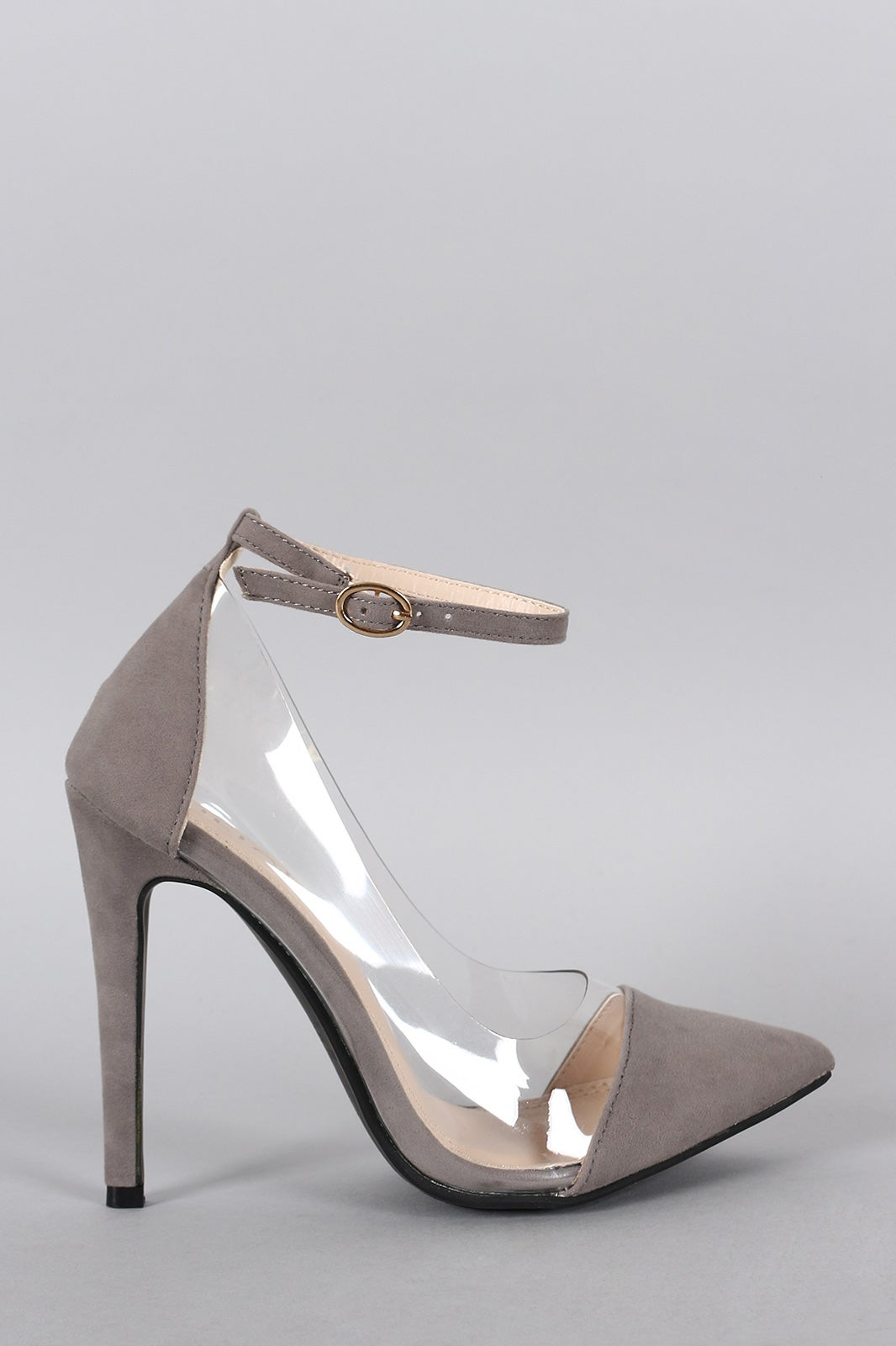 Image of Barely Basic Pumps w/ ankle strap (Grey)