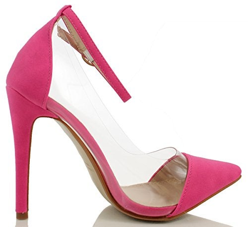 Image of Barely Basic Pumps w/ ankle strap (Fuchsia)