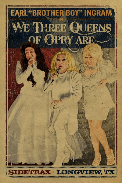 """Image of LESLIE JORDAN signed """"We Three Queens of Opery Are"""" Poster"""
