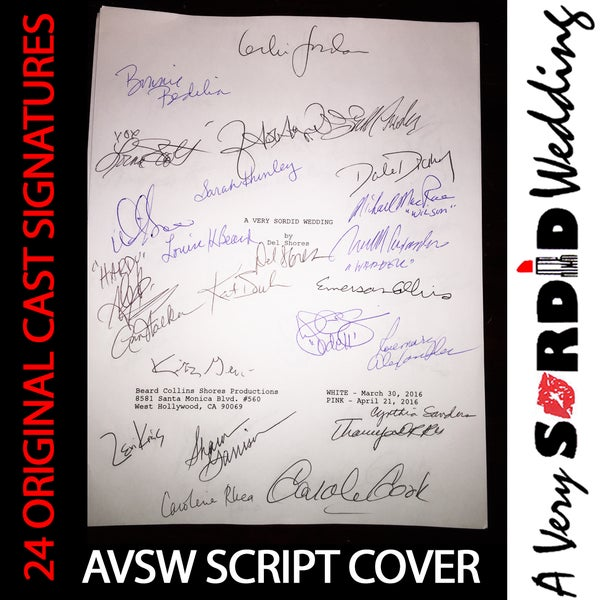 Image of AVSW Cast-Signed Script Cover