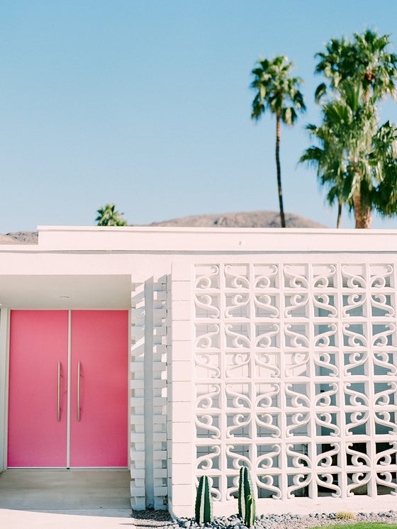 Image of pink door palm srpings
