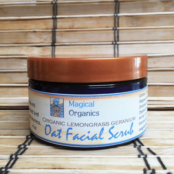 Image of Organic Lemongrass Geranium Oat Facial Scrub