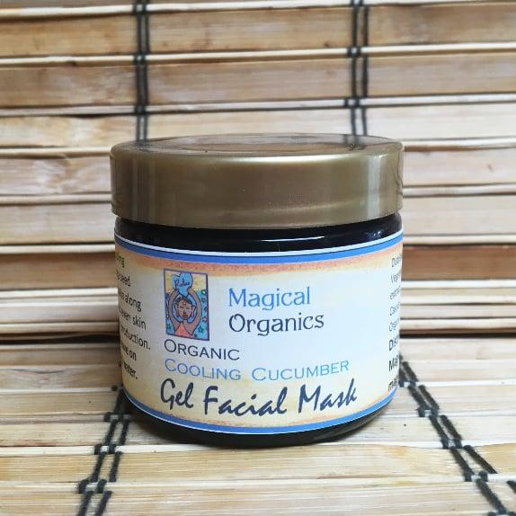 Image of Organic Cooling Cucumber Gel Facial Mask
